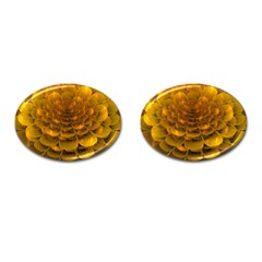 Yellow Flower Cufflinks (oval) by Simbadda