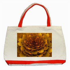 Yellow Flower Classic Tote Bag (red) by Simbadda