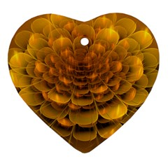 Yellow Flower Heart Ornament (two Sides)