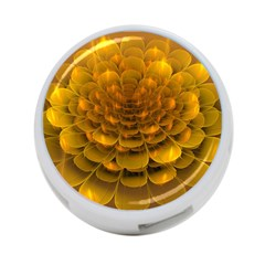 Yellow Flower 4 Port Usb Hub (two Sides)  by Simbadda