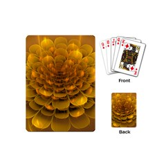 Yellow Flower Playing Cards (mini)  by Simbadda