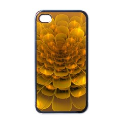 Yellow Flower Apple Iphone 4 Case (black) by Simbadda