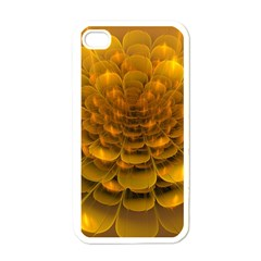 Yellow Flower Apple Iphone 4 Case (white) by Simbadda