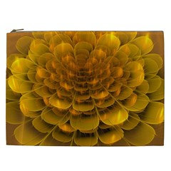 Yellow Flower Cosmetic Bag (xxl)