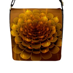 Yellow Flower Flap Messenger Bag (l)