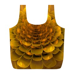 Yellow Flower Full Print Recycle Bags (l)