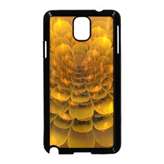 Yellow Flower Samsung Galaxy Note 3 Neo Hardshell Case (black) by Simbadda