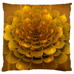 Yellow Flower Large Flano Cushion Case (two Sides)