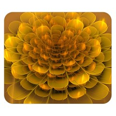 Yellow Flower Double Sided Flano Blanket (small)  by Simbadda
