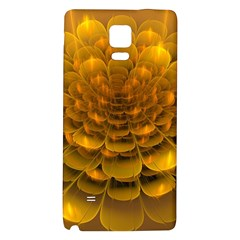Yellow Flower Galaxy Note 4 Back Case by Simbadda