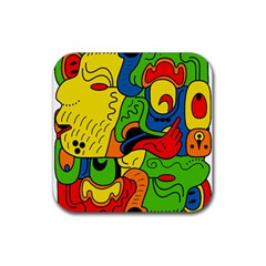 Mexico Rubber Square Coaster (4 Pack)  by Valentinaart