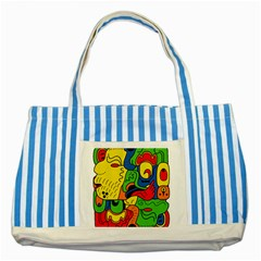 Mexico Striped Blue Tote Bag by Valentinaart