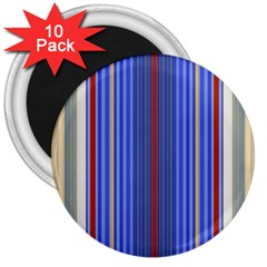 Colorful Stripes 3  Magnets (10 Pack)  by Simbadda