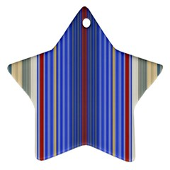 Colorful Stripes Star Ornament (two Sides) by Simbadda