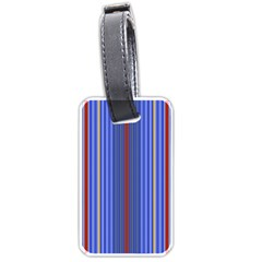 Colorful Stripes Luggage Tags (one Side)  by Simbadda
