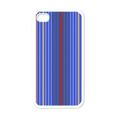 Colorful Stripes Apple Iphone 4 Case (white) by Simbadda