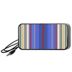 Colorful Stripes Portable Speaker (black) by Simbadda