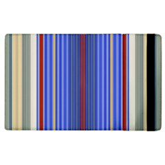 Colorful Stripes Apple Ipad 2 Flip Case by Simbadda