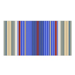 Colorful Stripes Satin Shawl by Simbadda