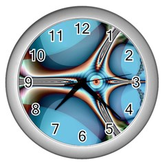 Fractal Beauty Wall Clocks (silver)