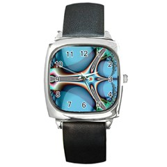 Fractal Beauty Square Metal Watch by Simbadda