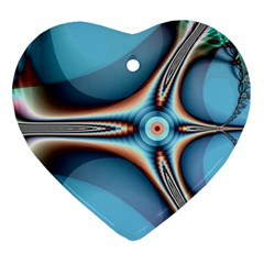 Fractal Beauty Heart Ornament (two Sides) by Simbadda