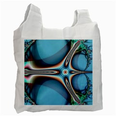 Fractal Beauty Recycle Bag (two Side)  by Simbadda