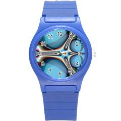 Fractal Beauty Round Plastic Sport Watch (s) by Simbadda