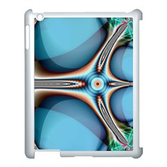 Fractal Beauty Apple Ipad 3/4 Case (white) by Simbadda