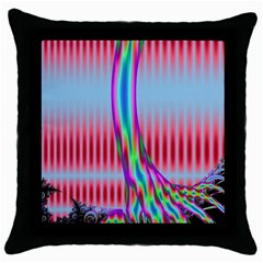 Fractal Tree Throw Pillow Case (black) by Simbadda