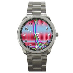 Fractal Tree Sport Metal Watch by Simbadda