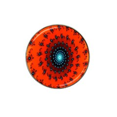 Red Fractal Spiral Hat Clip Ball Marker (10 Pack) by Simbadda