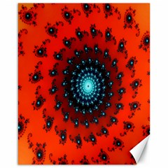 Red Fractal Spiral Canvas 16  X 20   by Simbadda