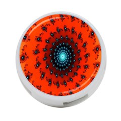 Red Fractal Spiral 4 Port Usb Hub (one Side) by Simbadda
