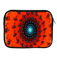 Red Fractal Spiral Apple Ipad 2/3/4 Zipper Cases