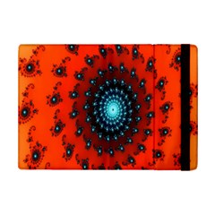 Red Fractal Spiral Ipad Mini 2 Flip Cases by Simbadda