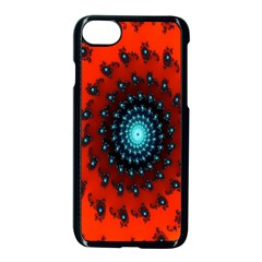 Red Fractal Spiral Apple Iphone 7 Seamless Case (black)