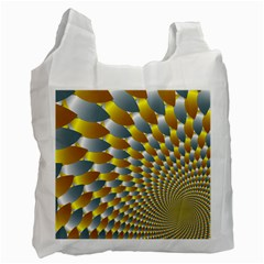 Fractal Spiral Recycle Bag (two Side)  by Simbadda