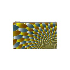 Fractal Spiral Cosmetic Bag (small)  by Simbadda