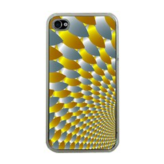 Fractal Spiral Apple Iphone 4 Case (clear) by Simbadda