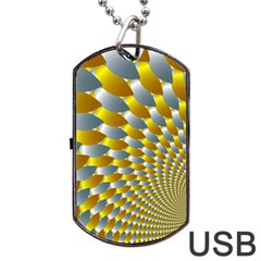 Fractal Spiral Dog Tag Usb Flash (one Side) by Simbadda