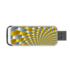 Fractal Spiral Portable Usb Flash (one Side) by Simbadda