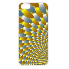 Fractal Spiral Apple Iphone 5 Seamless Case (white) by Simbadda