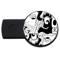 Mexico Usb Flash Drive Round (4 Gb) by Valentinaart