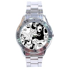 Mexico Stainless Steel Analogue Watch by Valentinaart