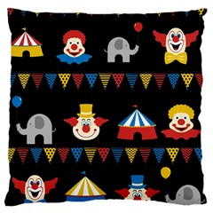 Circus  Large Flano Cushion Case (one Side) by Valentinaart