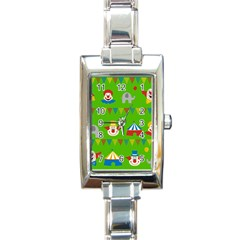 Circus Rectangle Italian Charm Watch