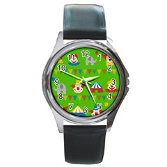 Circus Round Metal Watch