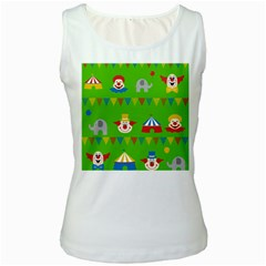 Circus Women s White Tank Top