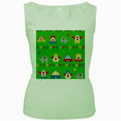 Circus Women s Green Tank Top